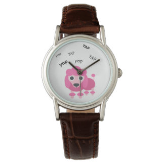 Yap Poodle Cute Emoji Watch