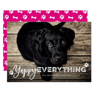 Yappy Everything Dog Lover Cute Holiday Photo Card 13 Cm X 18 Cm Invitation Card