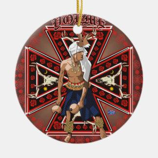 yaqui deer dancer round ornament