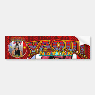 yaqui nation deerdancer bumber sticker red