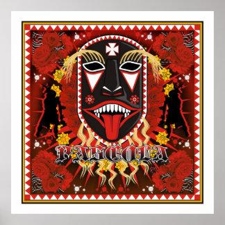 yaqui pescula mask art poster