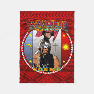 Yaqui Yoeme Deer Dancer Fleece Blanket
