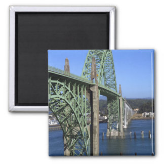Yaquina Bay Bridge spanning the Yaquina Bay Magnet
