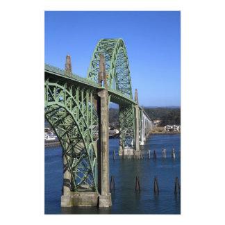 Yaquina Bay Bridge spanning the Yaquina Bay Photograph