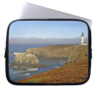 Yaquina Head Lighthouse at Newport Oregon Laptop Sleeve