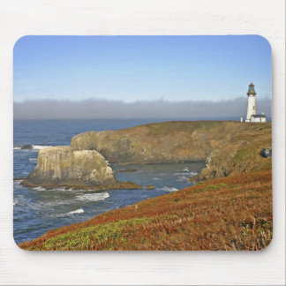 Yaquina Head Lighthouse at Newport Oregon Mouse Mat