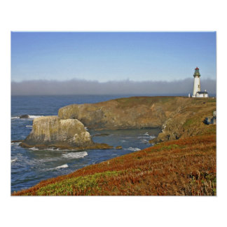 Yaquina Head Lighthouse at Newport Oregon Poster