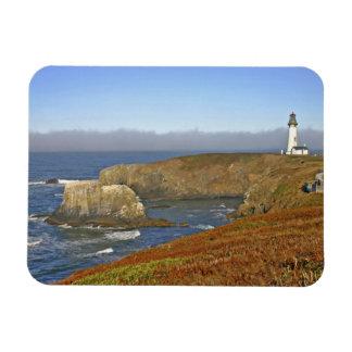 Yaquina Head Lighthouse at Newport Oregon Rectangular Photo Magnet
