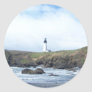 Yaquina Head Lighthouse Classic Round Sticker