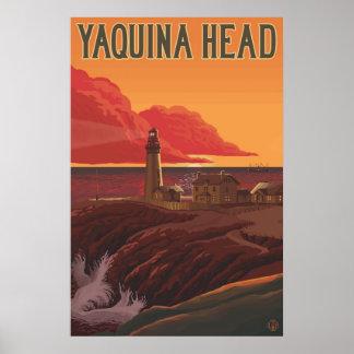 Yaquina Head Lighthouse, Oregon - Travel Poster