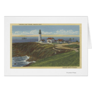 Yaquina Light House on Yaquina Head Greeting Card