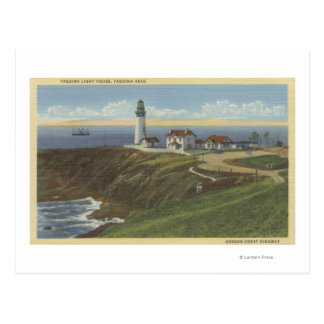 Yaquina Light House on Yaquina Head Postcard