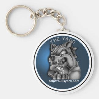 Yard Blue Bull Dog Keychain