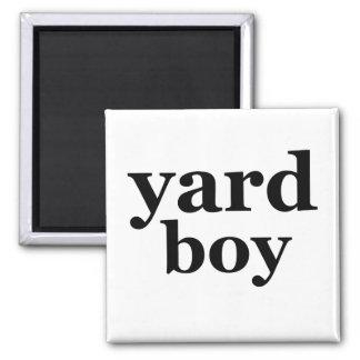 Yard Boy Square Magnet