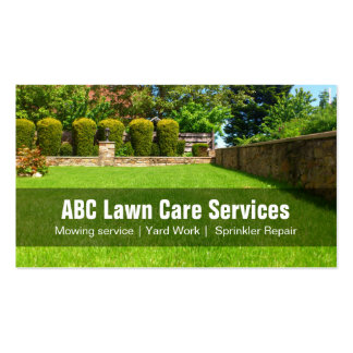 Yard Lawn Care Gardening Landscaping Green Grass Pack Of Standard Business Cards