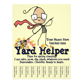 Yard Lawn Cleaning Work Promotional flyer