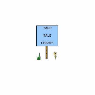 YARD SALE CHAMP! - pin Photo Sculpture Badge