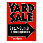 YARD SALE customisable poster