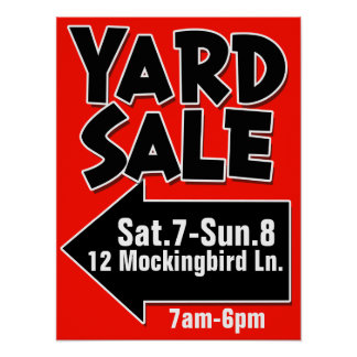 YARD SALE customizable poster