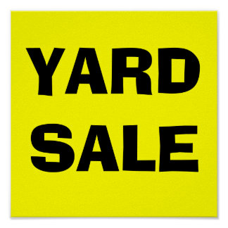 YARD SALE-Poster Sign Poster