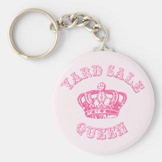 Yard Sale Queen Basic Round Button Key Ring