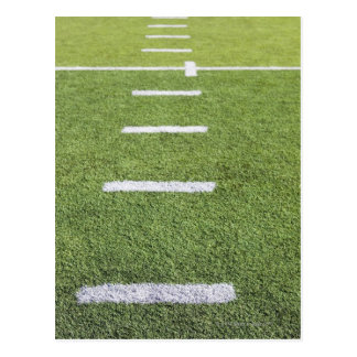 Yardlines on Football Field Postcard