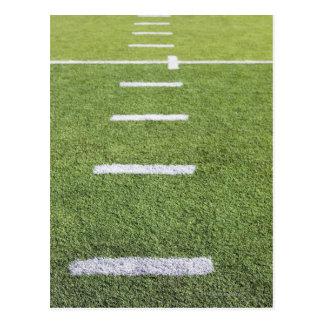 Yardlines on Football Field Postcard