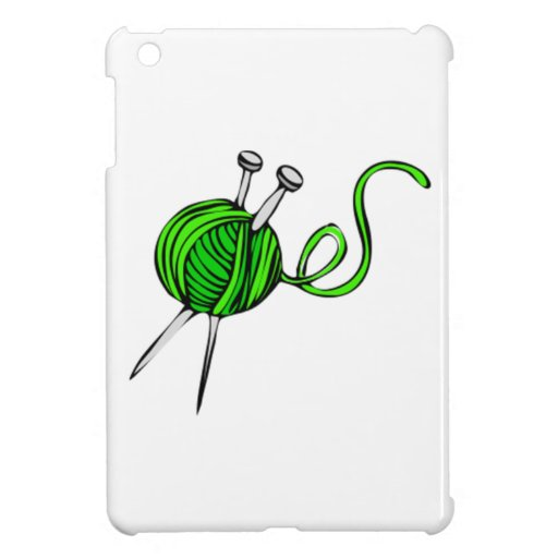 Yarn and Knitting Needles iPad Mini Case