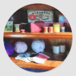 Yarn and Thread in General Store Round Sticker