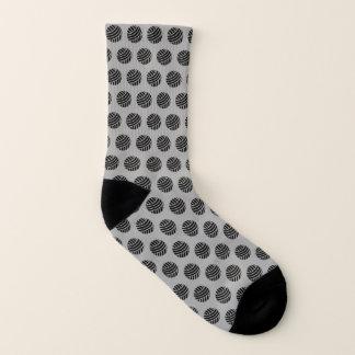 Yarn Ball Print Crafts {Dark} Socks