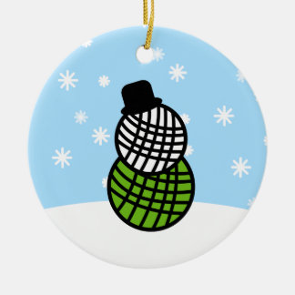 Yarn Ball Snowman Christmas Knit Crochet Ornament