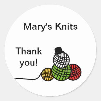Yarn Ball Snowman Christmas Knit Crochet Sticker