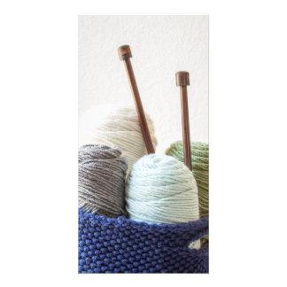 Yarn Basket 1 Customised Photo Card