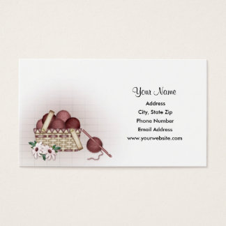 Yarn Basket - Crochet Business Cards