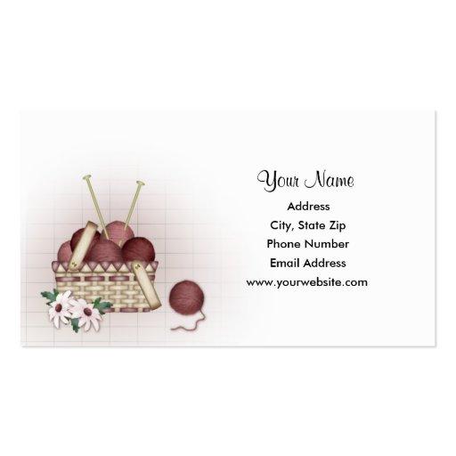 Yarn Basket - Knitting Business Cards