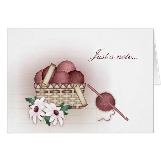 Yarn Basket Note Cards - Crochet