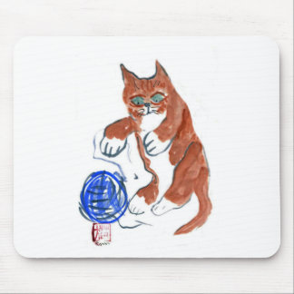 Yarn Bounce.... Wheee!!! Sumi-e in color Mouse Pad