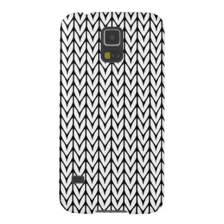 Yarn Design Chevrons Knit Style on Black Galaxy S5 Case