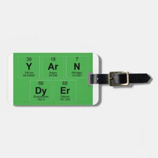 Yarn Dyer Periodic table Breaking Bad like Luggage Tags