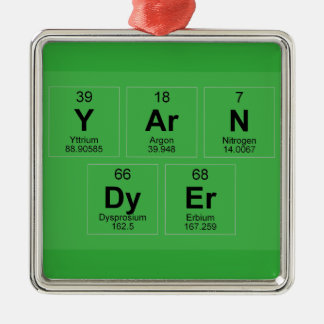 Yarn Dyer Periodic table Breaking Bad like Silver-Colored Square Decoration