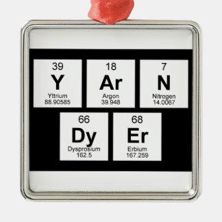 Yarn Dyer Periodic table Monochrome Silver-Colored Square Decoration