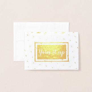 Yarn it up • Crafts Foil Card