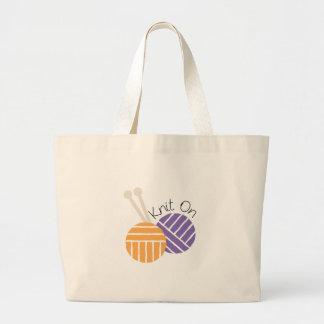 Yarn_Knit On Canvas Bags