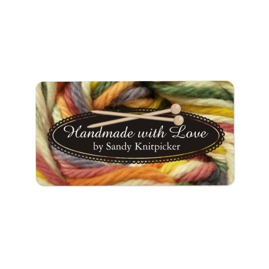 Yarn knitting needles crochet colourful yarn label