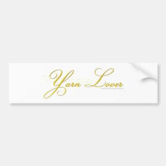 Yarn Lover Bumper Sticker