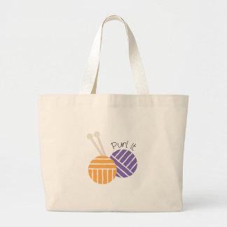 Yarn_Purl It Tote Bags