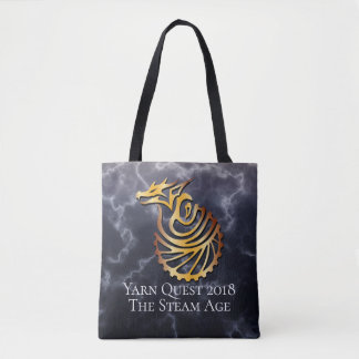 Yarn Quest The Steam Age All Over Tote Bag