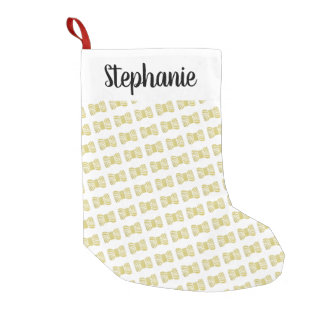 Yarn Skein •Faux Gold Foil + Your Name Small Christmas Stocking