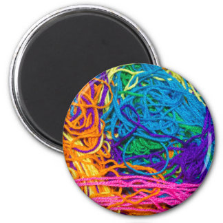 Yarn Tangles 6 Cm Round Magnet