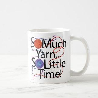 Yarn Time Basic White Mug